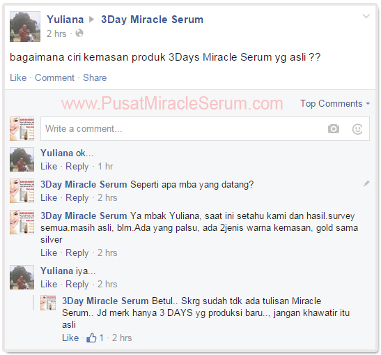 Bagaimana Ciri 3Days Miracle Serum Asli