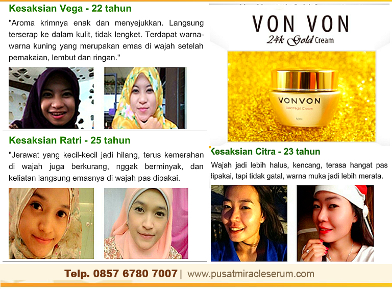 Testimoni Von Von Gold Cream 24K Night Cream