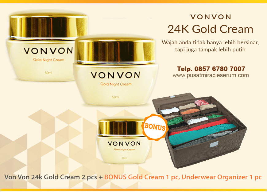 Von Von Gold Cream 24K Night Cream Promo Terbaru