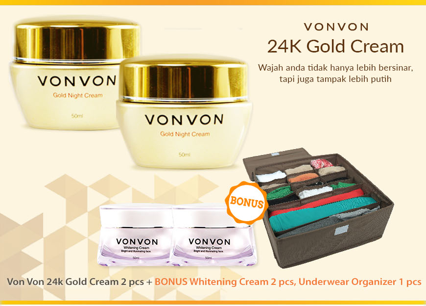 Vonvon 24k gold cream, von von gold cream